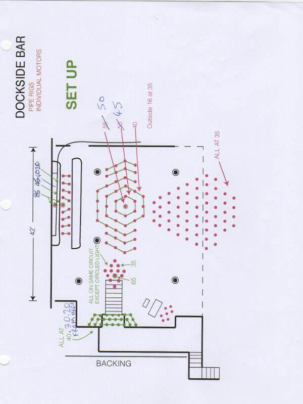 Lighting plan for the opening section
