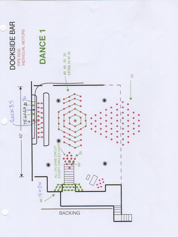 SAection 1 - lighting plan