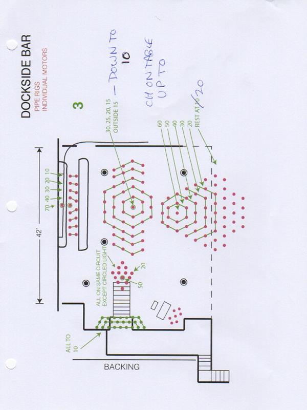 dockside bar 9 section 3 lighting plan roger a deakins rh rogerdeakins com Architecture Diagram Lighting Architecture Diagram Lighting