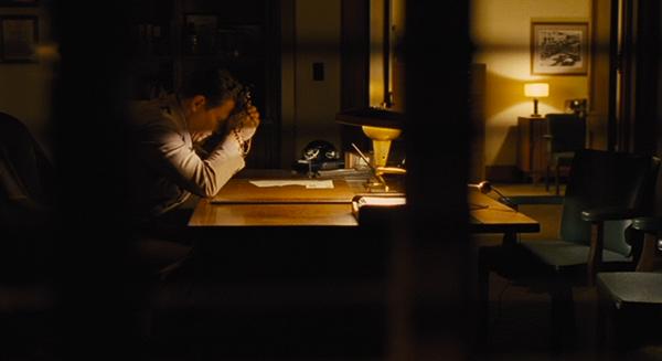 Eddie's office at night