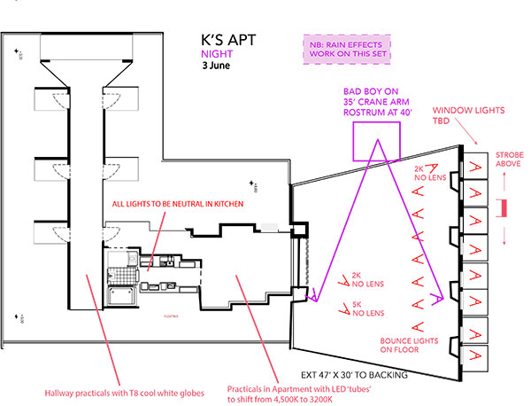 K's Apt Night lighting plan