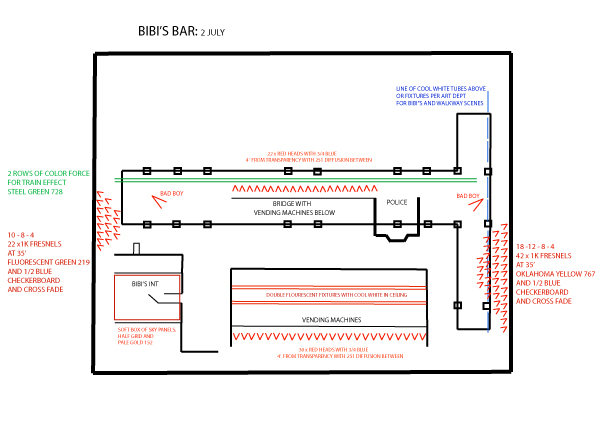 Bibi's Bar Lighting Plan