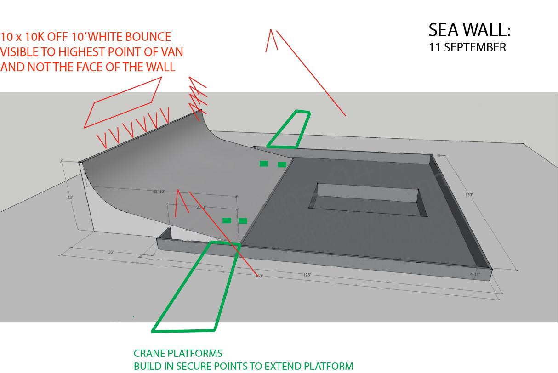 Sea Wall Lighting and Crane Plan