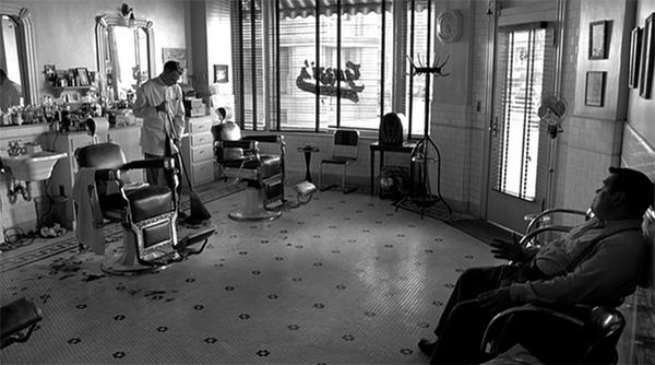 WS of Barber shot