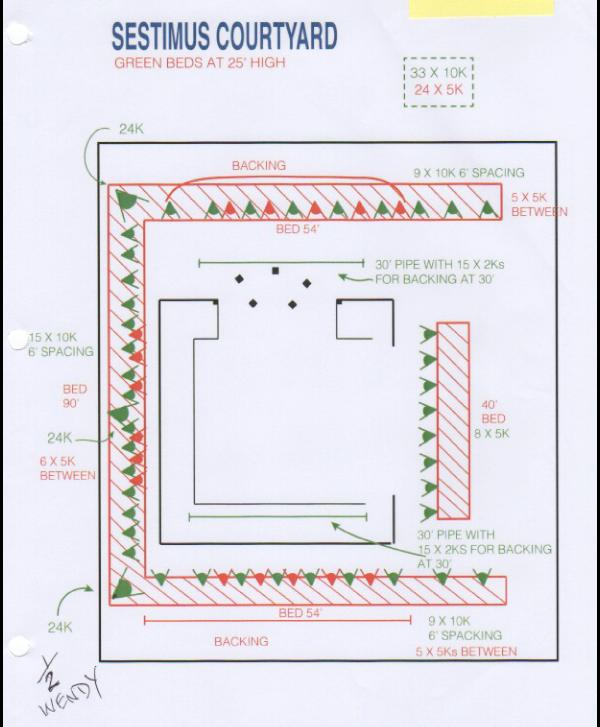 Sestimus' Courtyard Lighting Plan